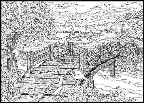 very detailed coloring pages # 4