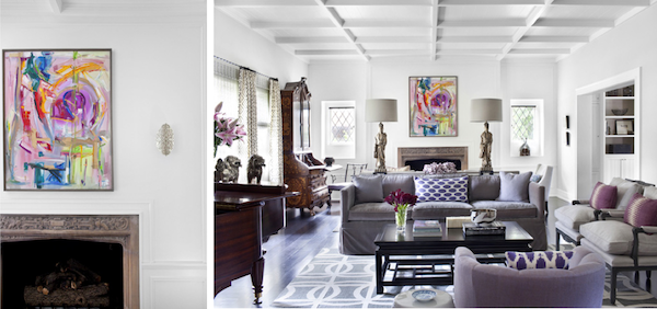 House Beautiful Burnham Design Modern Tudor Living-Room-detail & Interiors Inspiration: Modern Take on a Traditional Tudor in 2019 ...