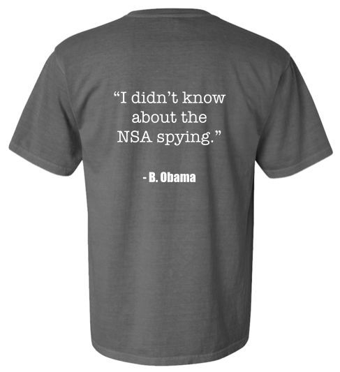 I didn't know about the NSA spying.