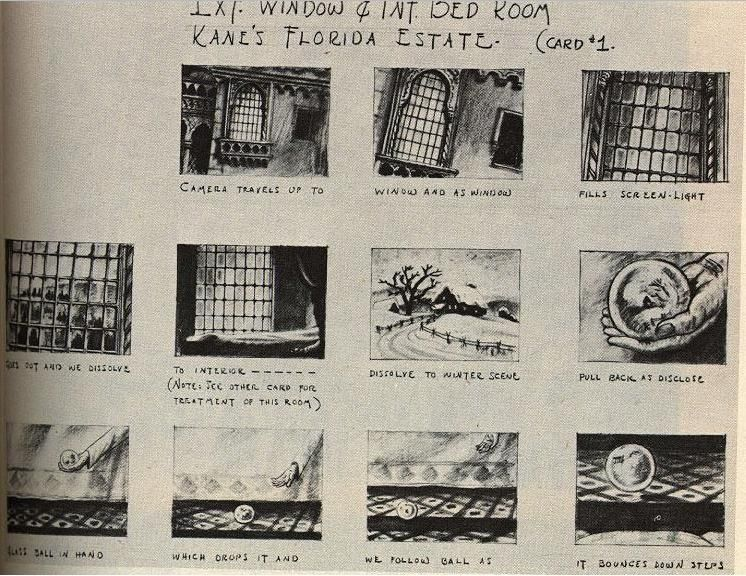 Citizen Kane Orson Welles Storyboard   Storyboards