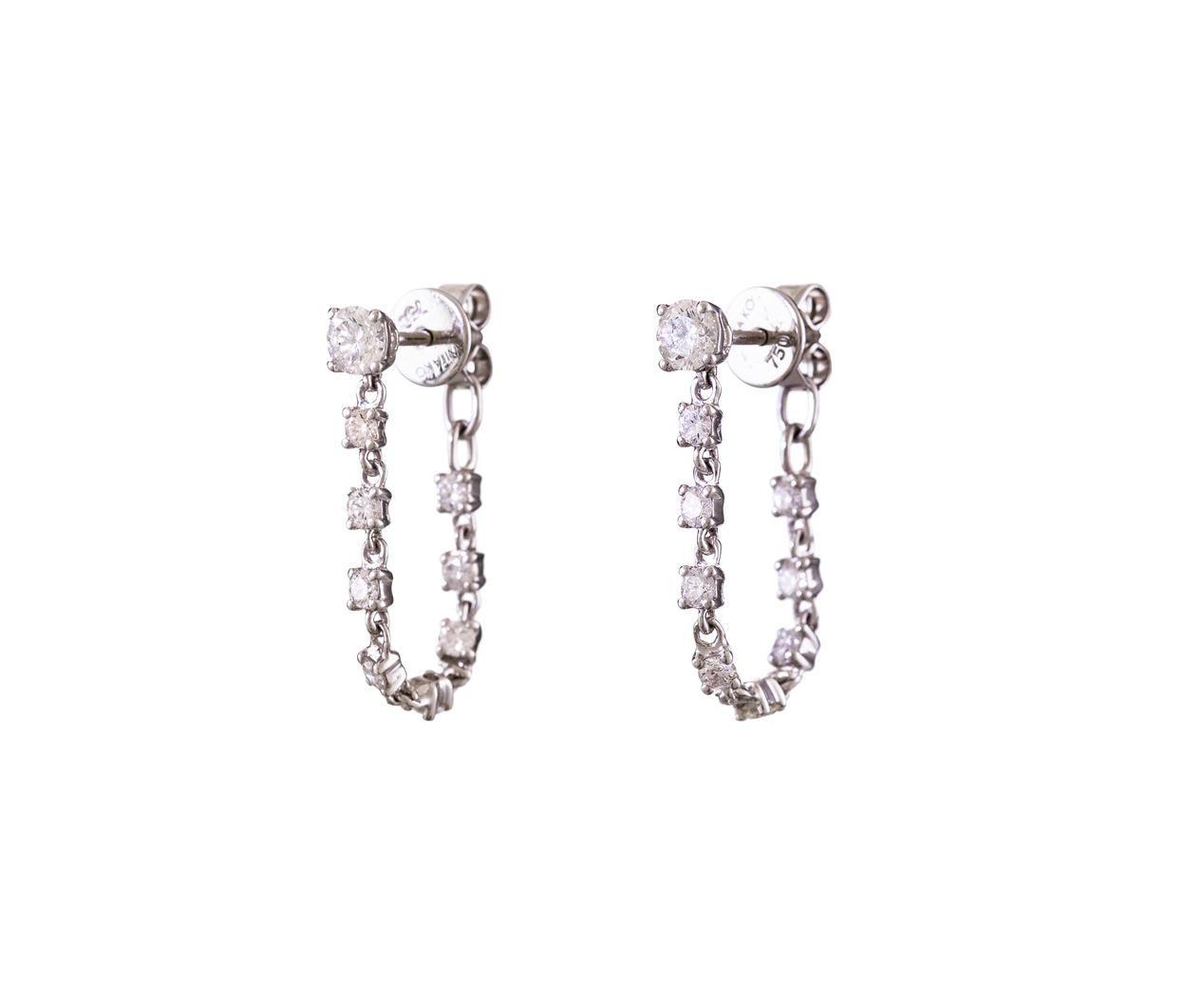 Rope 18-karat White Gold Diamond Earrings - one size Anita Ko ReNJeqF