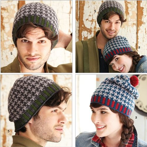 knitting, hat, houndstooth, brioche, (With images) | Easy ...
