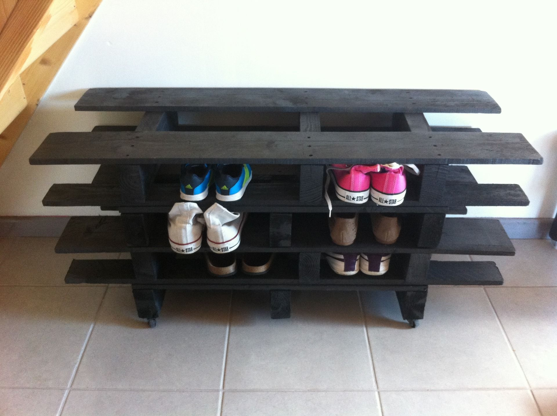 Moderne meuble de rangement en bois de palette meubles et rangements par malvina34 palettes - Meuble a chaussure en palette ...