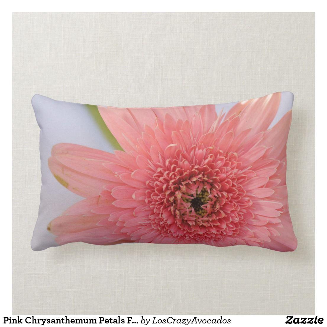 Pink Chrysanthemum Petals Flower Pillow Cushion Zazzle Com Flower Pillow Pillows Flowers Floral Cushions