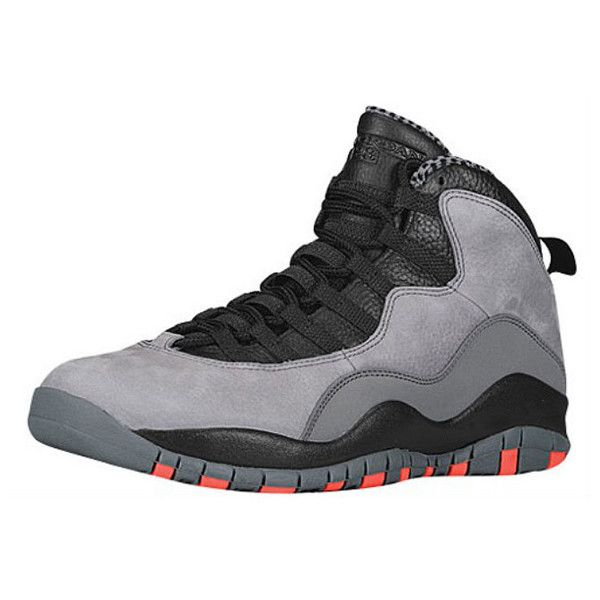 251e8be50dad31 AIR JORDAN 10 (COOL GREY INFRARED) Sneaker Freaker ❤ liked on Polyvore  featuring shoes