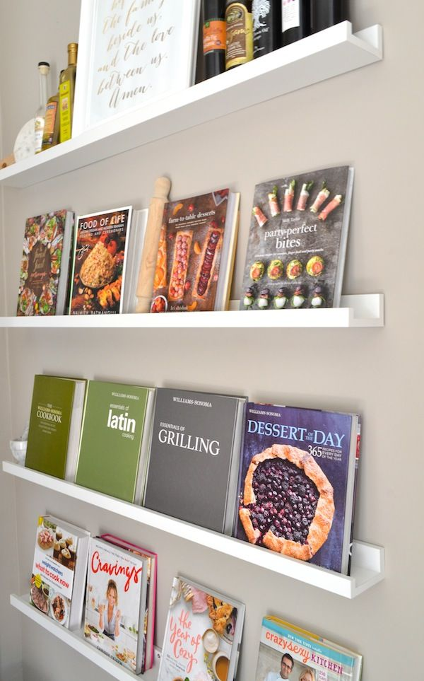 Photo of HOW I CREATED MY DIY COOKBOOK WALL USING IKEA PICTURE LEDGES