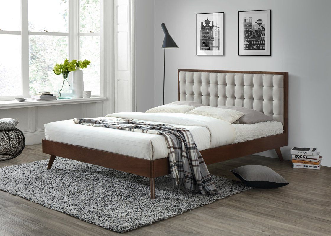 abril queen upholstered platform bed for my restoration