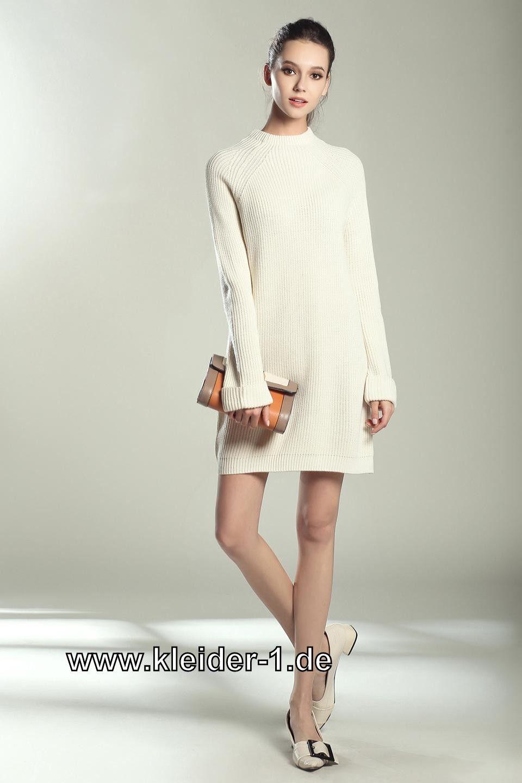 Damen Long Pullover Winterkleid in Weiß | nähprojekte | Pinterest ...