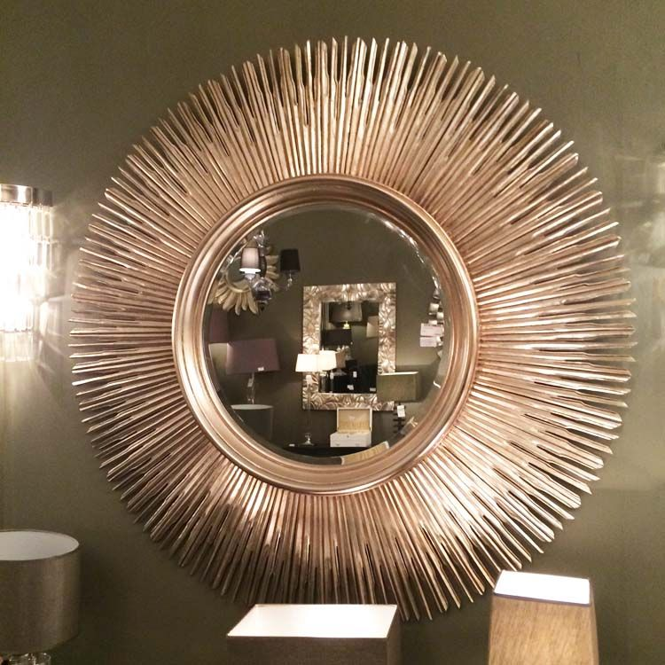 Large sunburst wall mirror
