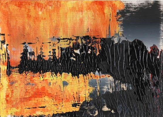 8.4.89 | Gerhard Richter  29.8 cm x 42 cm, oil on paper