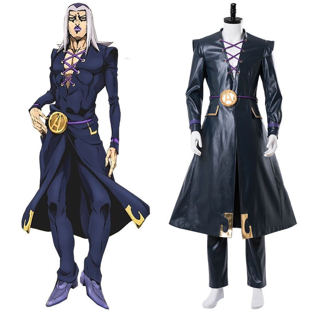 JoJo s Bizarre Adventure  Golden Wind Leone Abbacchio Outfit Cosplay  Suit!AW  fashion  clothing  shoes  accessories  costumesreenactmenttheater   costumes ... 163c752a5d74