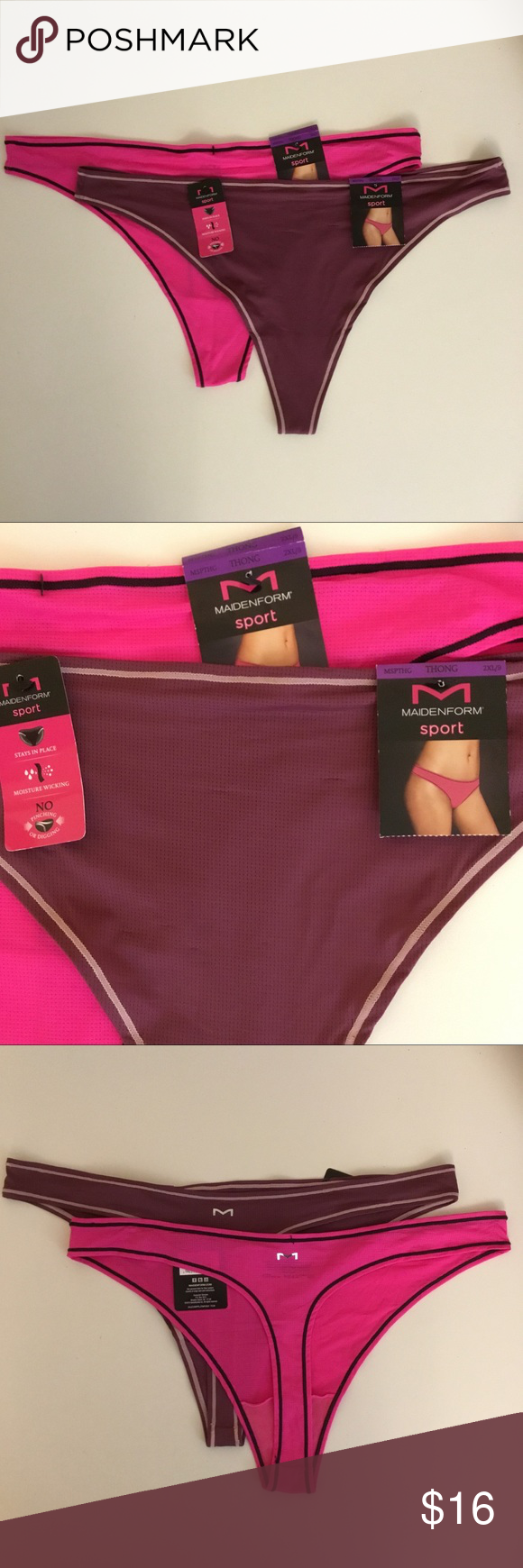 89a11d31e6b2 2 pairs of Maidenform Sport Thong Panties 2XL 9 2 pairs of Maidenform Sport  Thong Panties Size 2XL / 9 Style MSPTHG Style DMMSMT Tagless Sexy  Comfortable ...