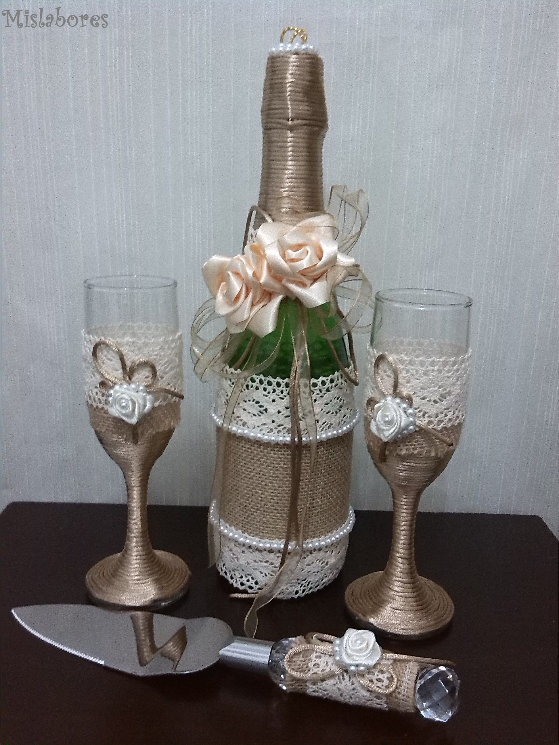 Botellas De Vidrio Decoradas Para Boda Botella Y Copas Decoradas Para Boda Botellas Decoradas Bottle