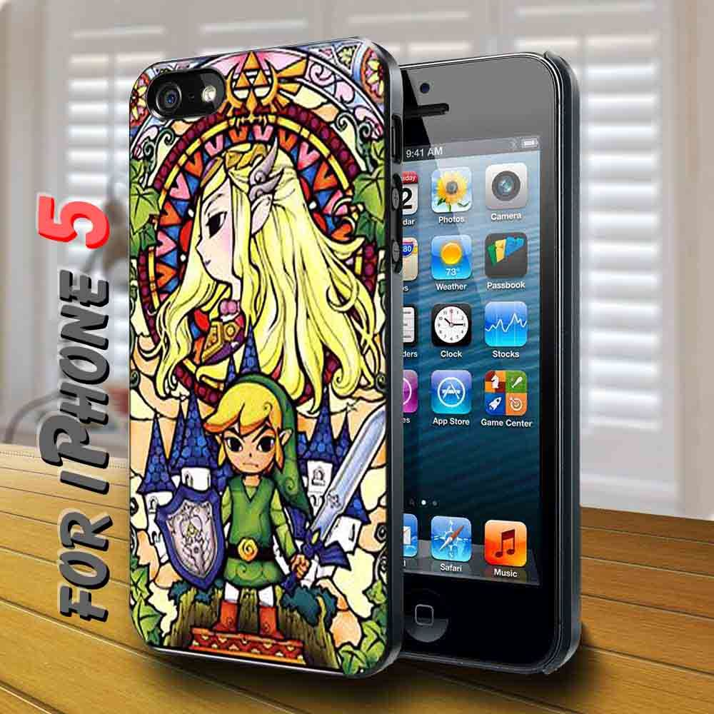 the legend of zelda glass texture Black Case Phone cases