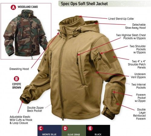 Rothco Special OPS Tactical Softshell Jacket Coyote