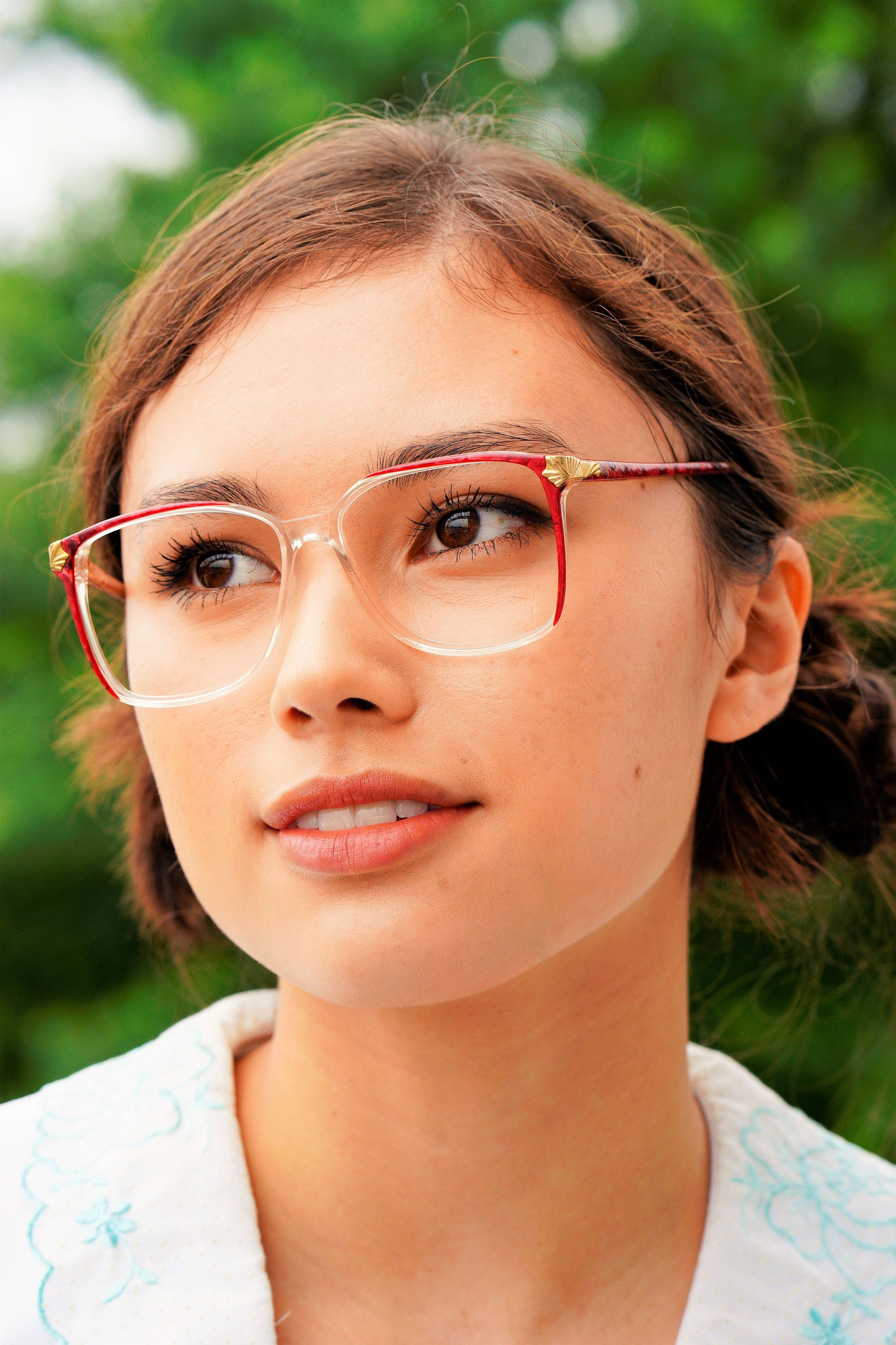 9952c10ec58 Vintage 1990s Eyeglass Translucent New Old Stock Frames Marble red color  splash and clear Glasses by Monet Made In Hong Kong by hisandhervintage on  ...