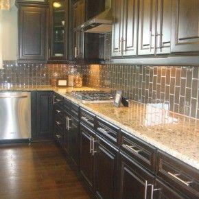images of simple tile kitchen backsplashes with dark cabinets | Backsplash Tile Designs With Dark Cabinets Beauty. furniture kitchen.