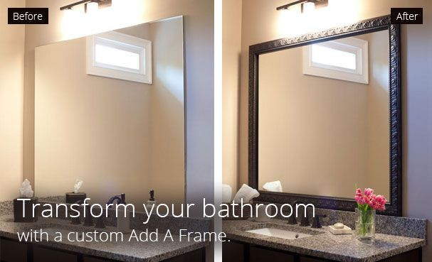 Exceptionnel Frame My Mirror | Custom Frame | Home Accents | Bathroom Makeover