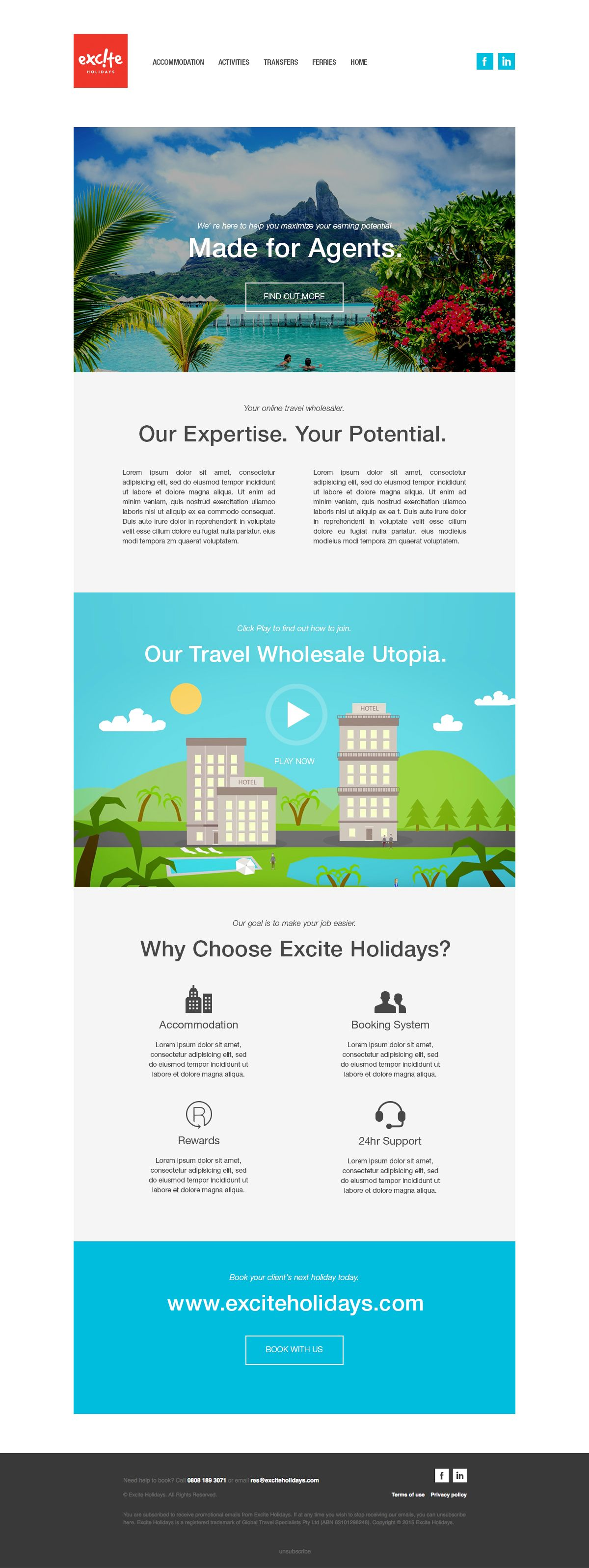 newsletter templates for travel company on behance web designs