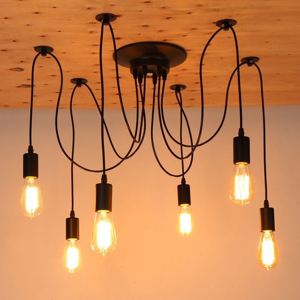 Pop Modern 6 Heads Pendant Ceiling Lamp Lighting Without Bulb For