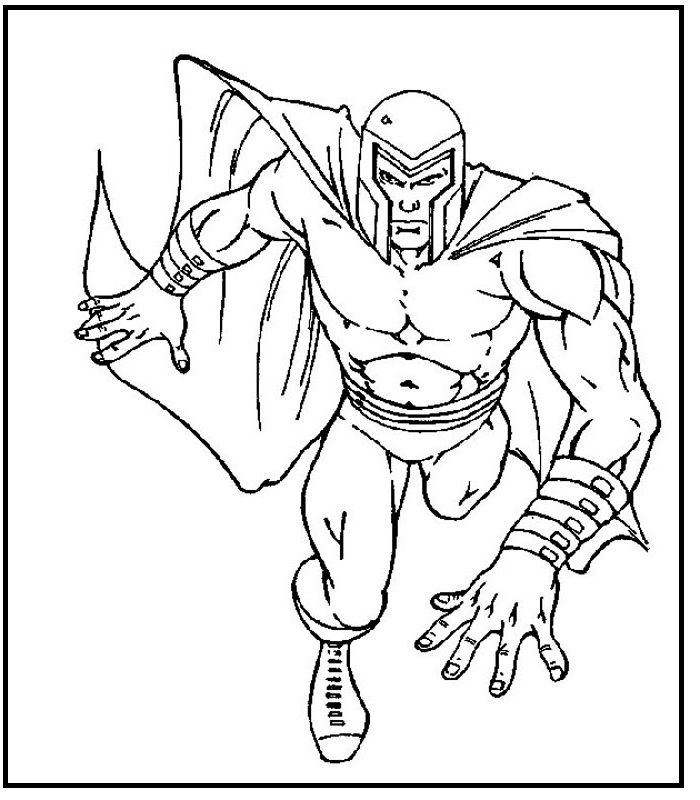 Cartoon X Men Magneto Coloring Pages For Kids Hab Printable X Men Coloring Pages For Kids Free Kids Coloring Pages Coloring Pages Cartoon Coloring Pages