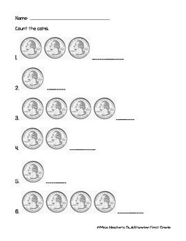 Counting like coins - Quarters | 1st Grade Math | 1st grade ...