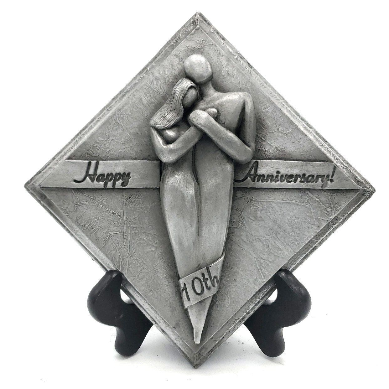 Happy 10 Year Anniversary Gift Aluminum Plaque, 10th Tenth