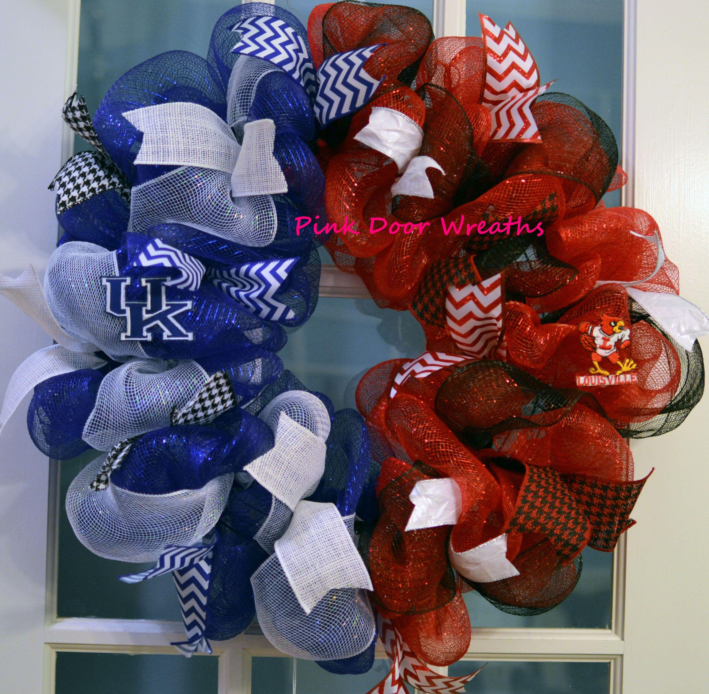 Housedivided Ul Uk Wreath Louisville Kentucky Split Wreath By