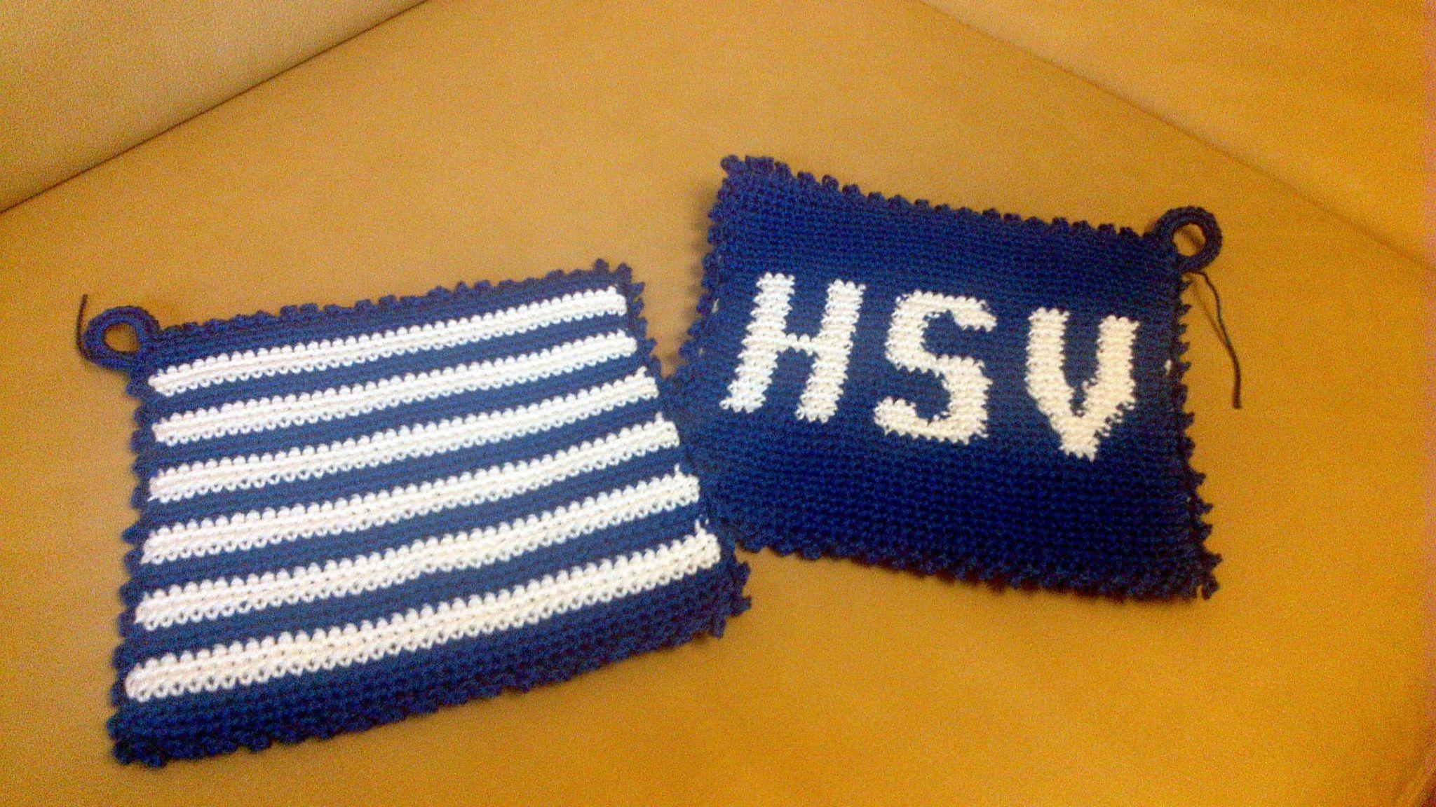 HSV topflappen | meine Werke | Pinterest | Hsv, Topflappen und Freebooks