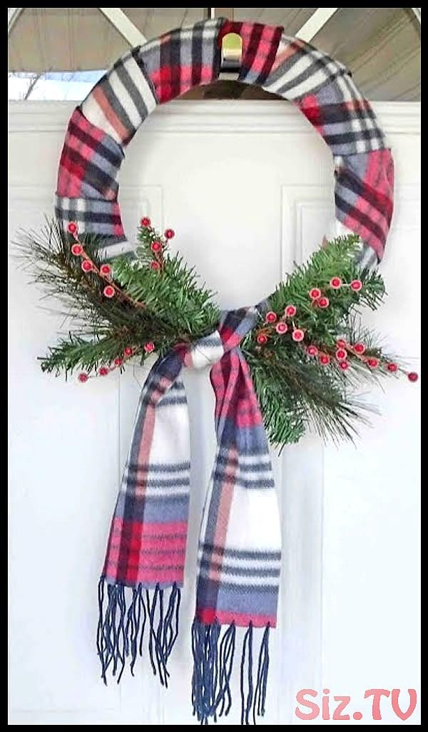 BEST Dollar Store Christmas Wreath DIY Holiday Wreath Ideas Learn How To Make Wreaths To Make Your Front Door Look Amazing Dollar Store Hacks Homemade Christmas Decor BES...