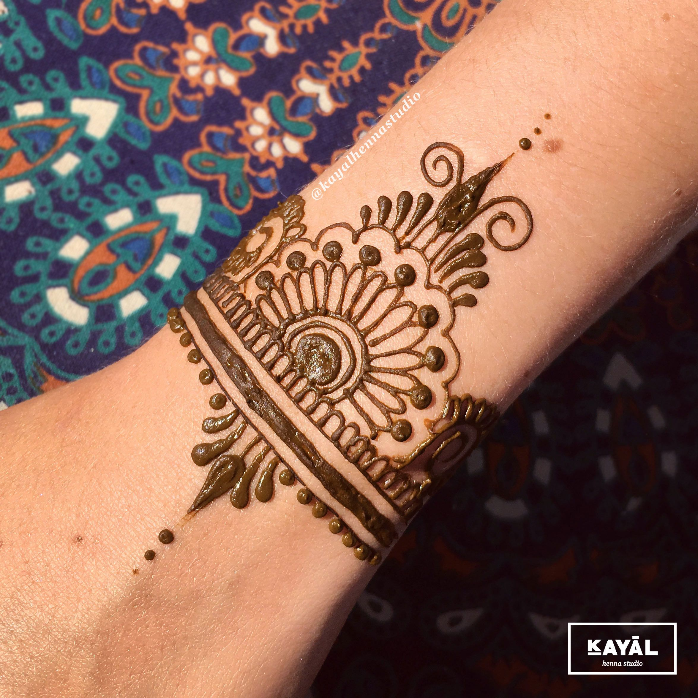 Instragram Ishi Tattoo Wrist Cuffs: Wrist Henna Tattoo By Ḵayāl Henna Studio. Instagram