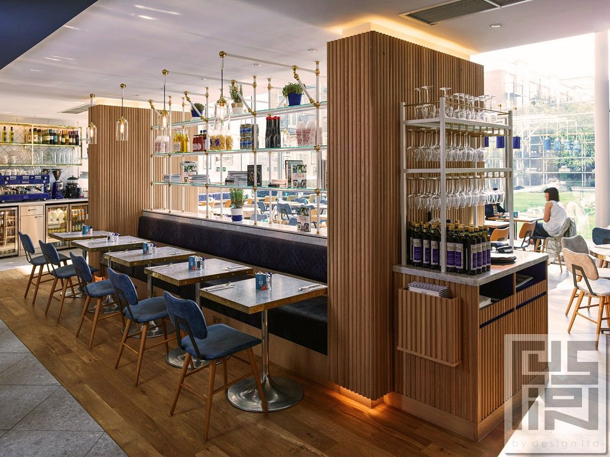 Projects Fusion By Design Waiter Station Carluccio 39 S Interior Bar Restaurant