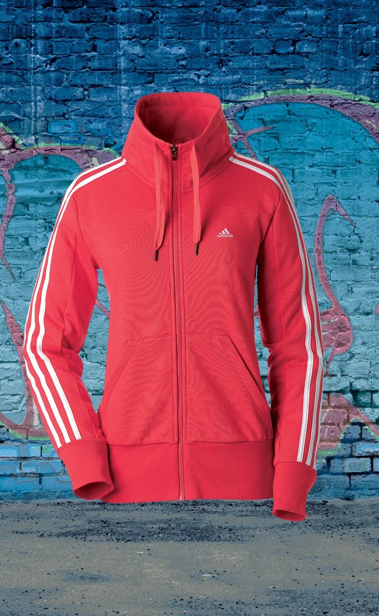 Adidas ladies  funnel jacket  1fe71af25