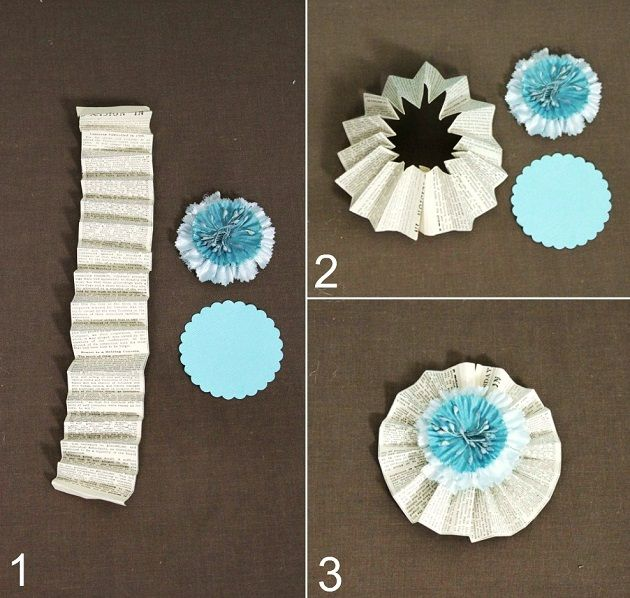 Paper crafts diy flowers rosettes crafts and crafty how to make paper fan rosettes from celebrationsathomeblog mightylinksfo Choice Image