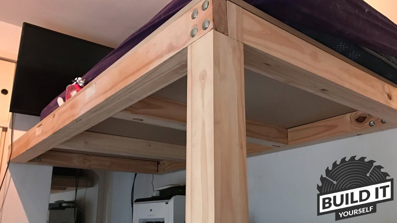 Plywood loft bed plans  Loft Bed construction DIY  Build It Yourself K  Apartment
