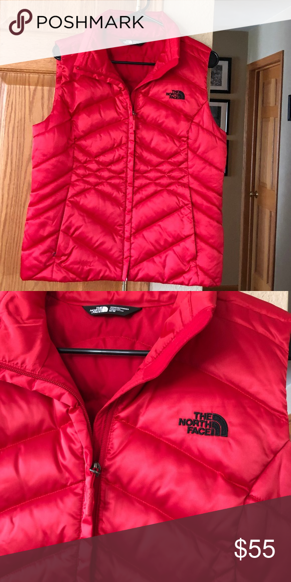 f96b1d405 North Face Red Black Puffer Vest M The North Face Puffer Vest Red ...