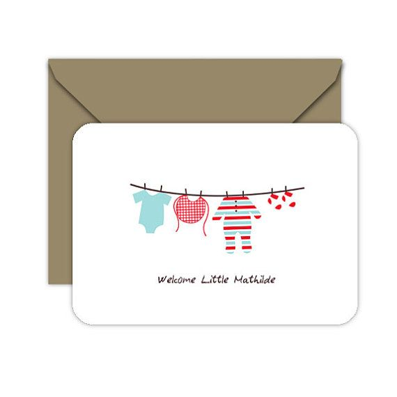 New Baby Card Printable Card   Baby Shower Printable Card (PDF)    Congratulations Greeting