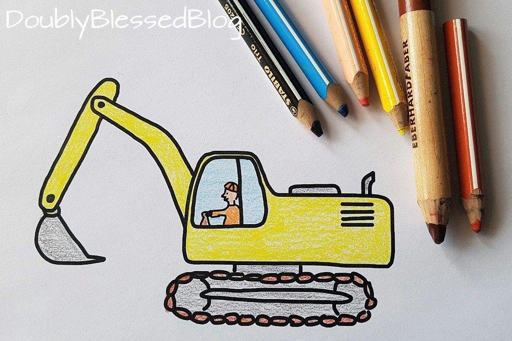 Gelber bagger Spielzeug Stock-Vektorgrafik - Alamy