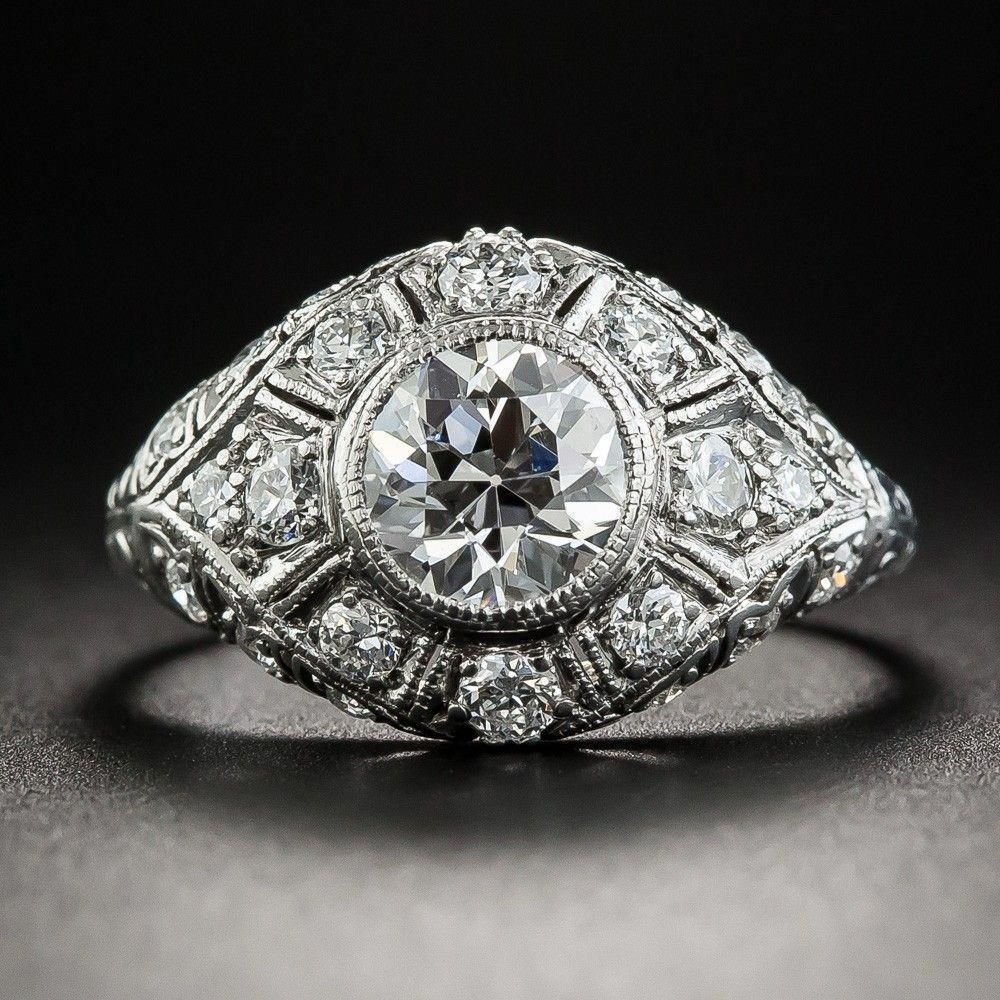 Edwardian 1.05 Carat Diamond Platinum Engagement Ring
