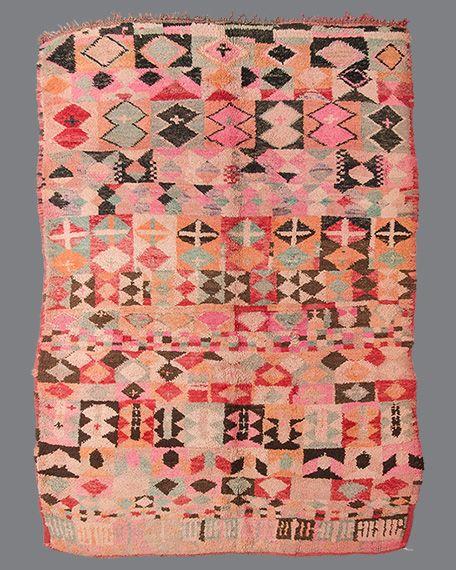 Vintage moroccan rug boujad bj20 rugs alfombras - Telas marroquies ...