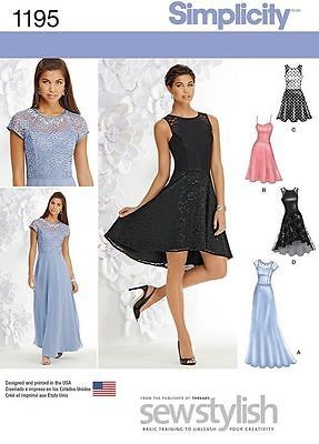 Evening Dress Patterns With Lace Overlay World Apparel Store