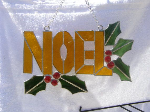 Christmas stained glass panel
