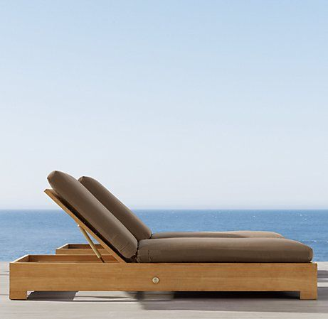 Belvedere Chaise Teak Pool Furniture Weathered Teak