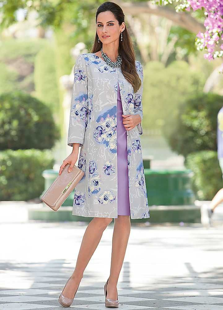 Together Floral Print Coat Extraordinary Outfits For Curvy Girls