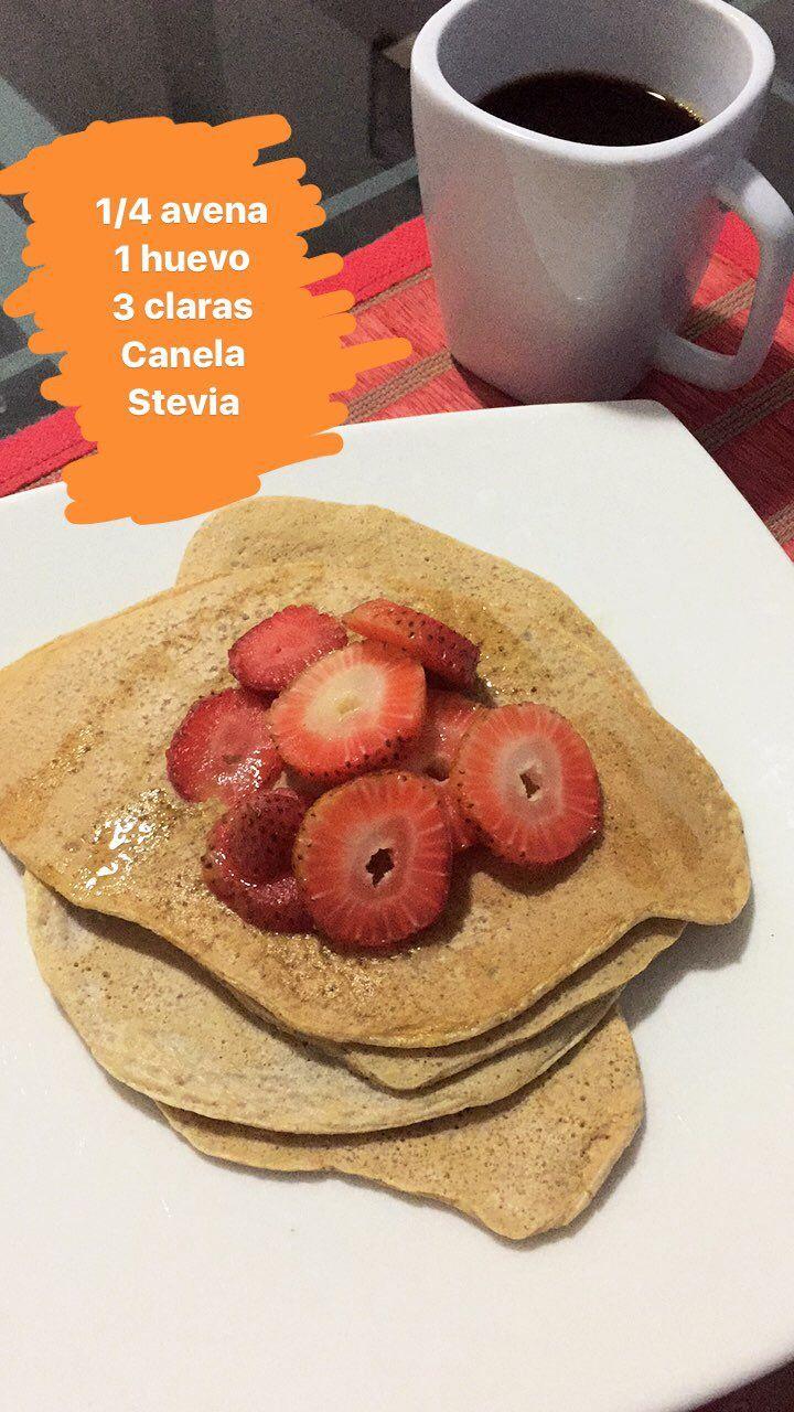 1 4 Avena En Hojuelas 1 Huevo Entero 3 Claras Canela Stevia Healthy Lifestyle Healthy Food