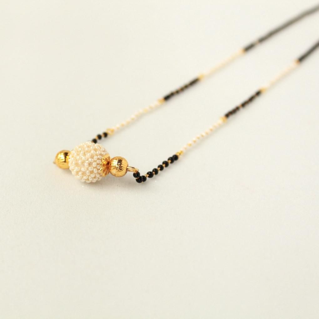Handcrafted pearl mangalsutra pearls jewel and pendants