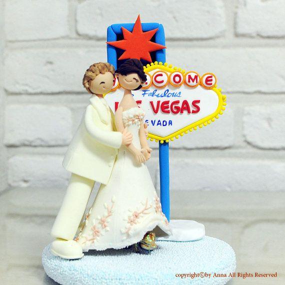 Las Vegas Wedding Gifts: Wedding, Honeymoon In Las Vegas Wedding Cake Topper