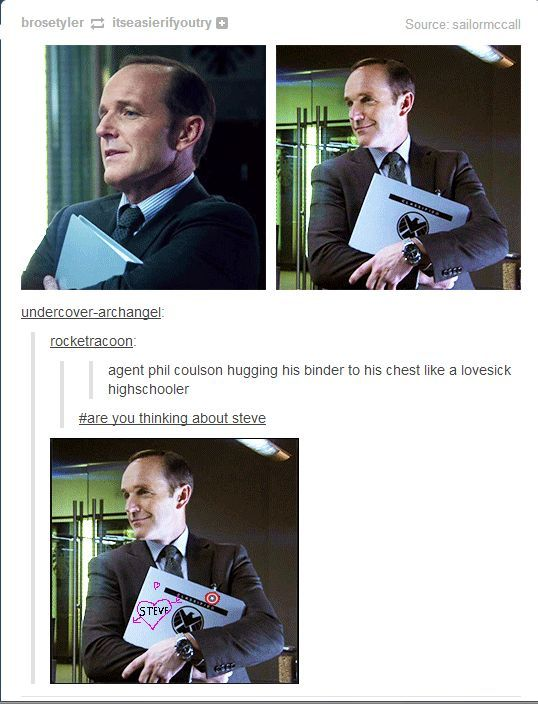 Agent Coulson. Hahaha, the comments! OH, GOSH. THIS IS PERFECT. I laughed soo hard...
