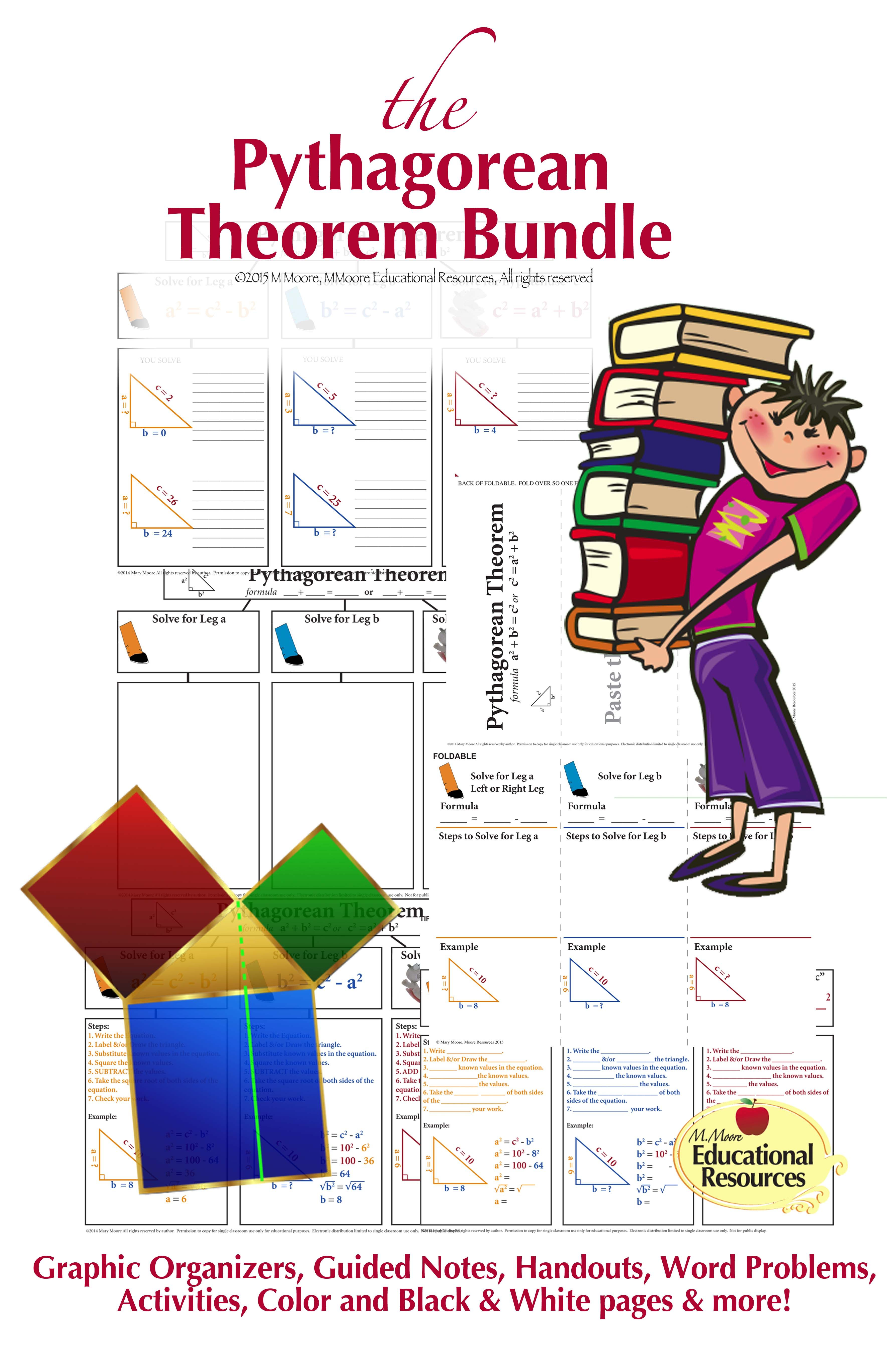 Pythagorean Theorem Bundle With Real World Word Problems