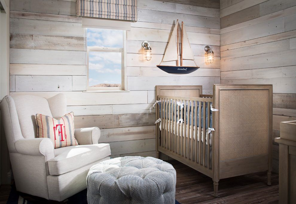 Shiplap Poplar Accent Wall Nursery Beach Style With Ideas For Baby Boy Modern Decorative Pillow Covers
